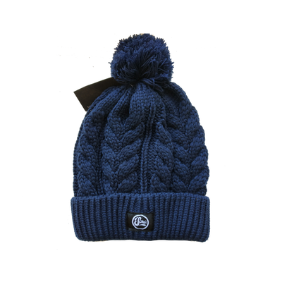 Navy Blue Bobble Hats
