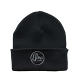 Black Beanie with embroidered logo - £10